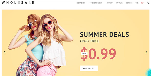 Wholesale Store PrestaShop Theme