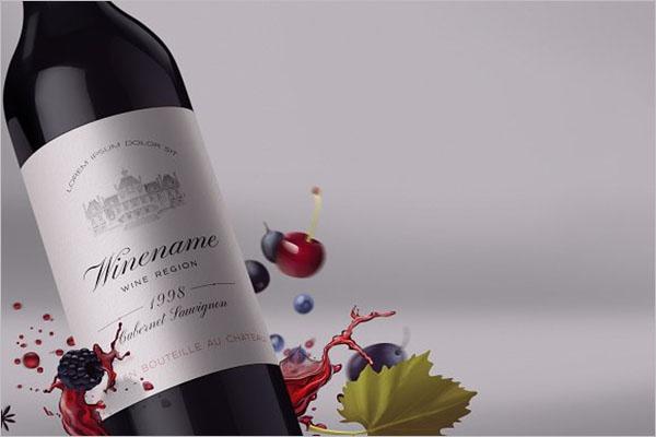 Wine Bottle Mockup Design