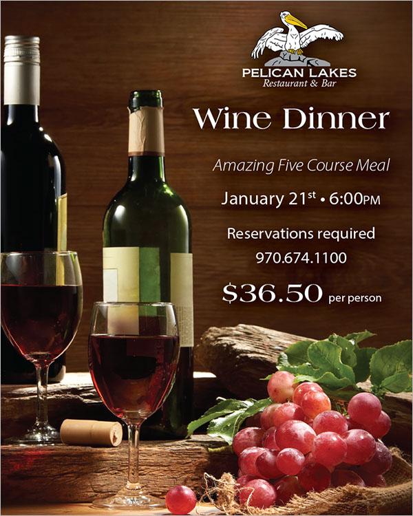 Wine Dinner Poster Design