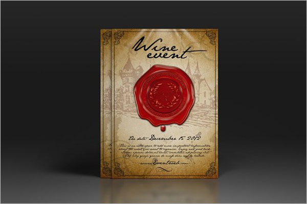 Wine Event Flyer Design