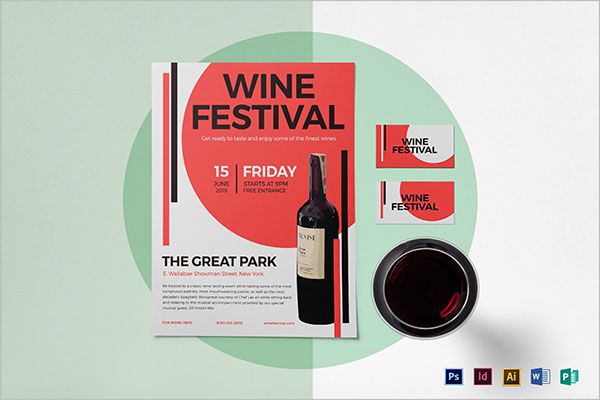 Wine Festival Flyer Template