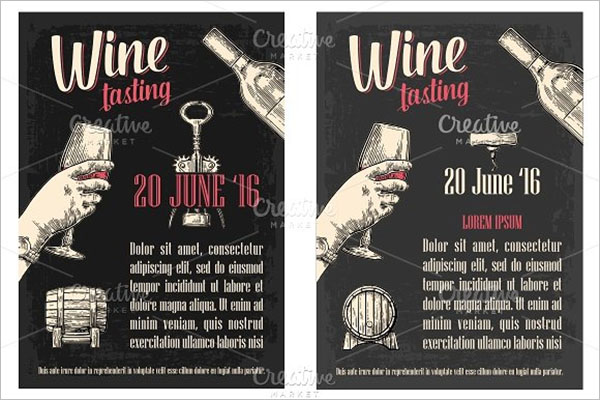 Wine Flyer Design PSD