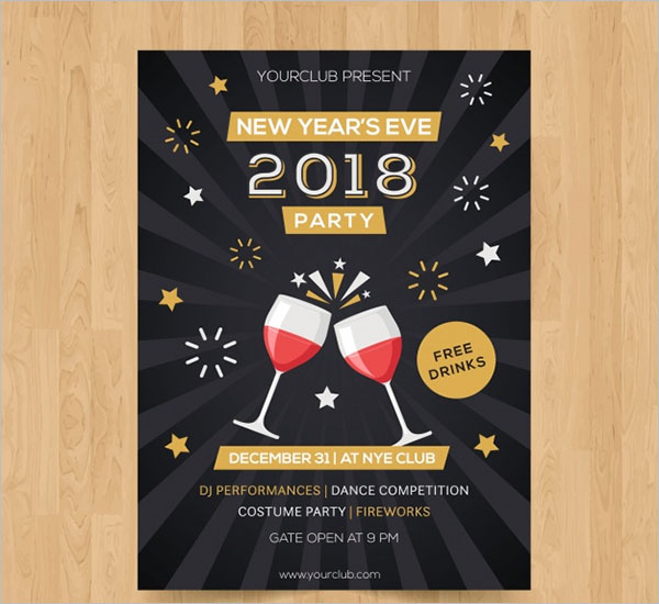 Wine Glasses Poster Design