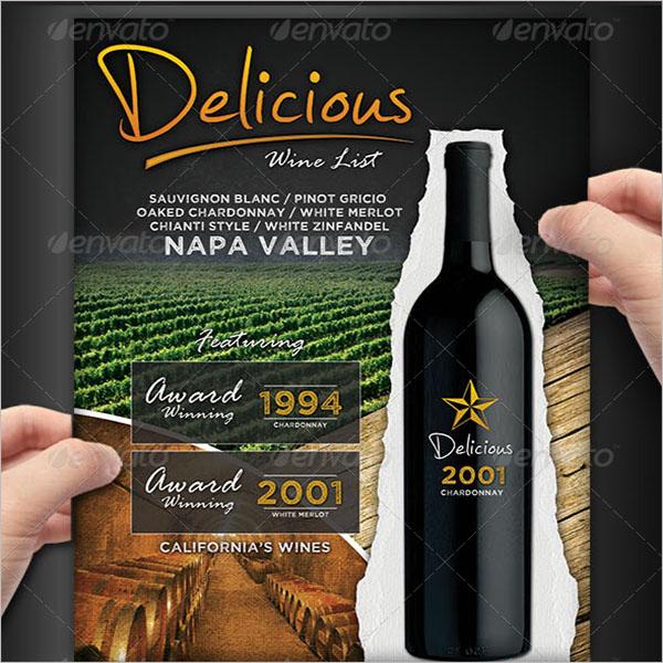 Wine List Menu Flyer