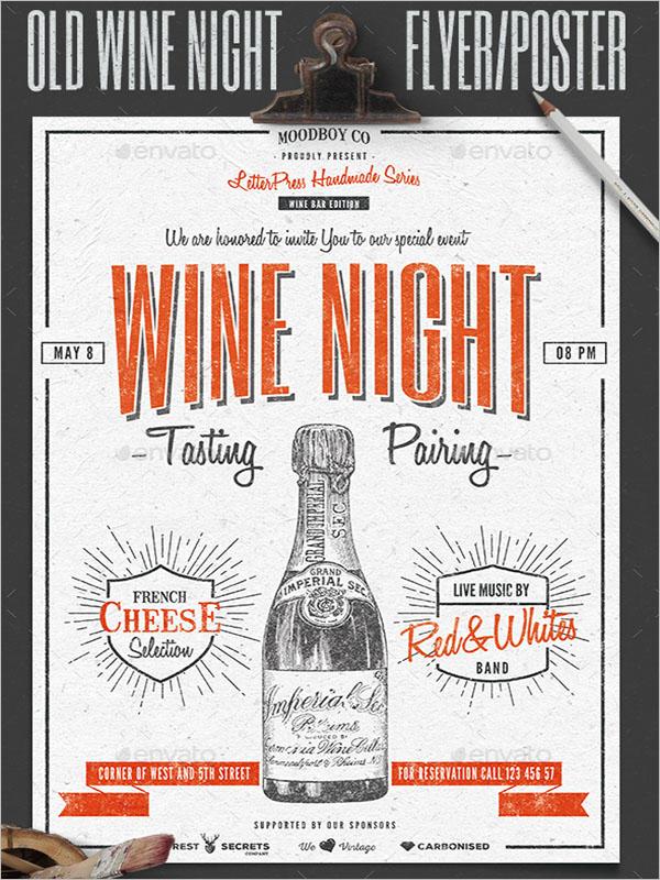 Wine Night Poster Design