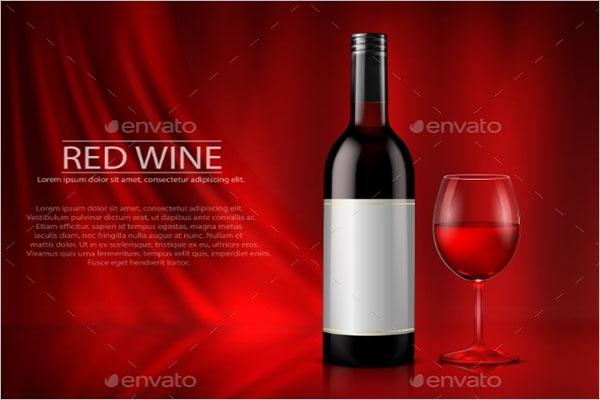 Wine Poster Design Vector