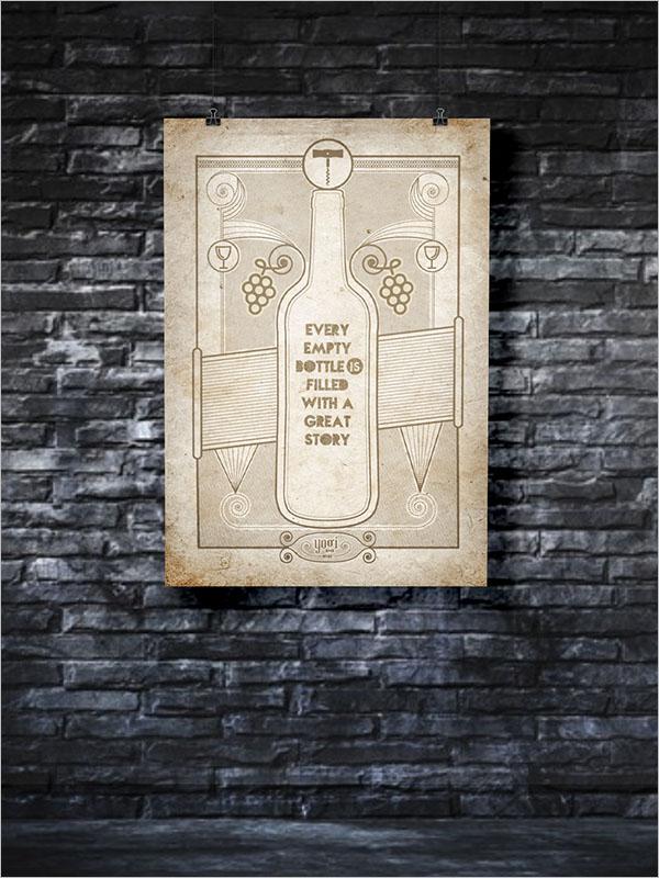 Wine Region Poster Design