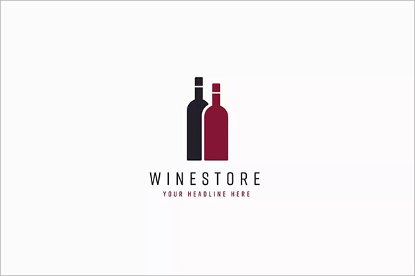 Wine Store Logo Template