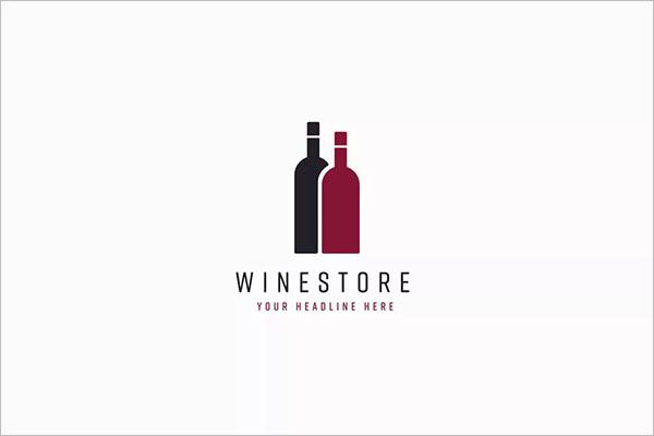 Wine Store Logo Template