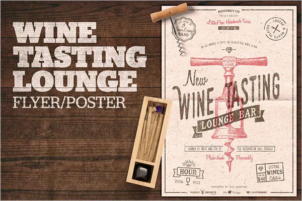 Wine Tasting Lounge Flyer