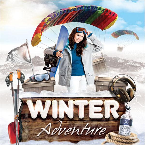 Winter Adventure Flyer Template