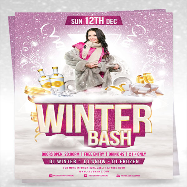 Winter Flyer Template Free Download