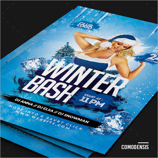 Winter Holiday Flyer Template