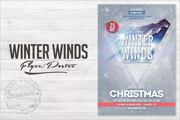 Winter Wind Flyer Poster