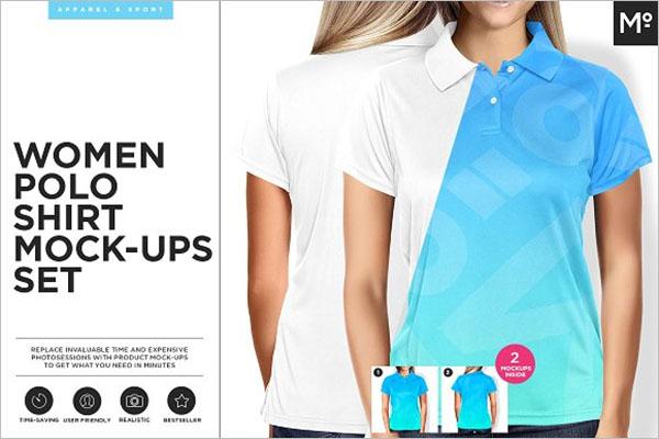 Women Polo Shirt Mock-up