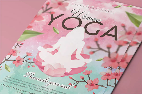 Women Yoga Poster Design