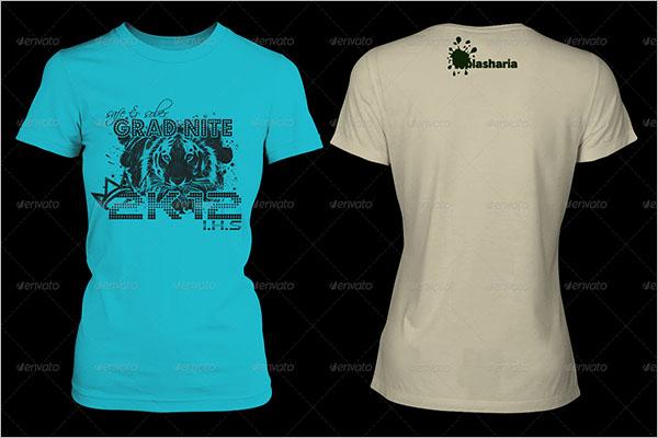 Women's Mock Turtle Neck T-shirt