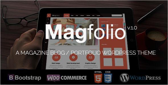 WooCommerce Portfolio Blog Theme