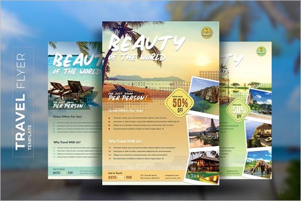 World Tourism Flyer Templates