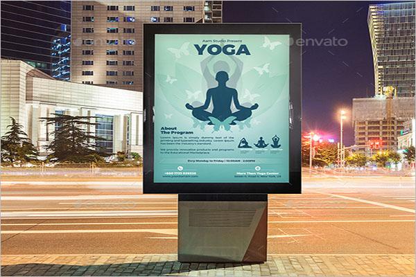 Yoga Advertisement Poster Design