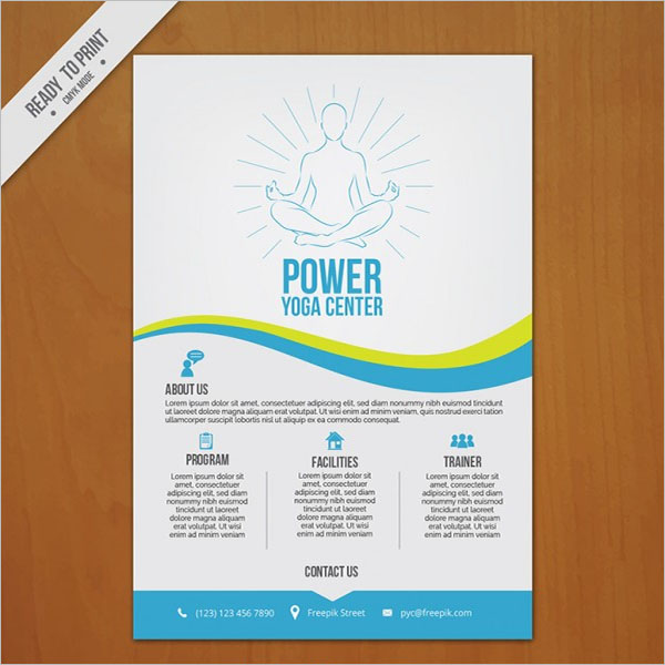 Yoga Center Poster Free Download