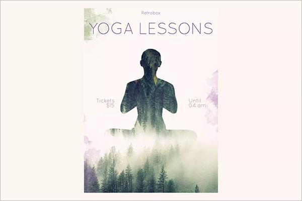 Yoga Lessons Poster Design