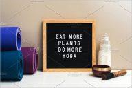 Yoga Letter Board Mockup Design