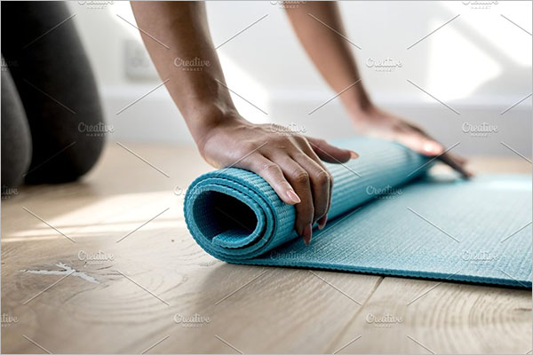 Yoga Mat Mockup Vector Design
