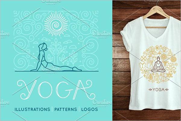 Yoga Poster Design Illustration
