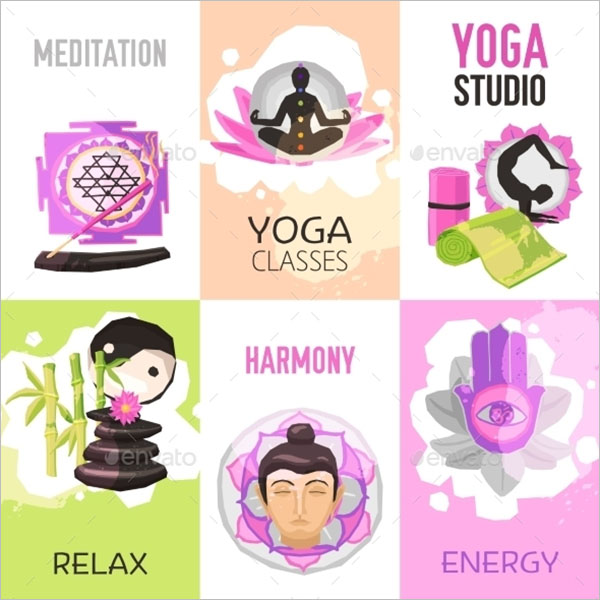 Yoga Poster Design Set