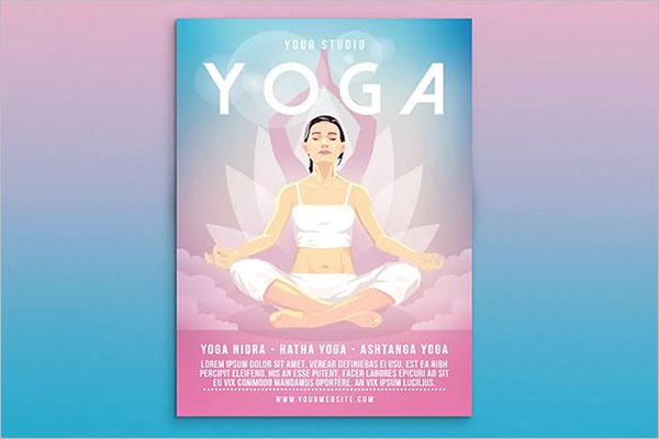 Yoga Poster Design Vector