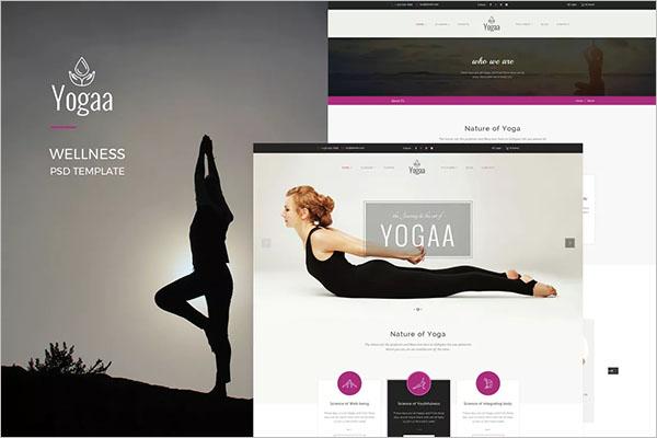 Yoga Wellness Poster Template