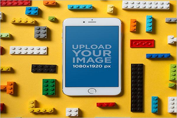 i phone 8 Plus Mock Up With Legos