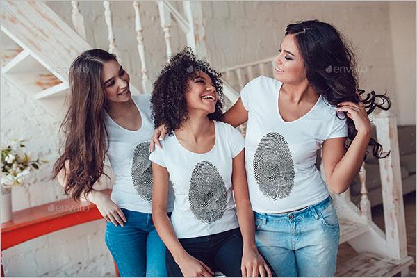 Women Mock Neck T- Shirt