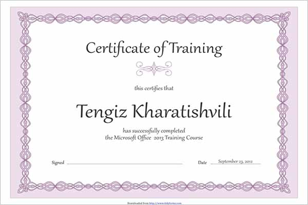 3 Training Certificate Design Download