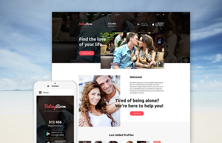 Dating Online Joomla Template