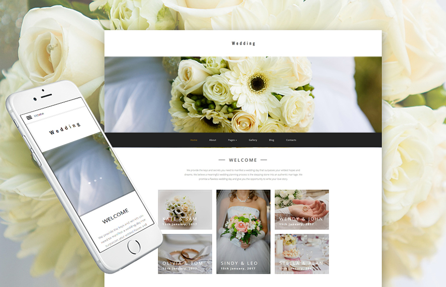Wedding Planner Joomla Template