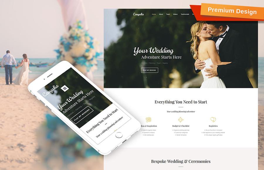 Wedding Services Moto CMS 3 Template