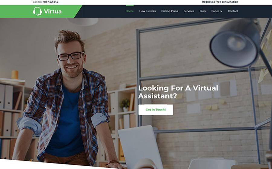 Virtua - Virtual Assistant WordPress Theme