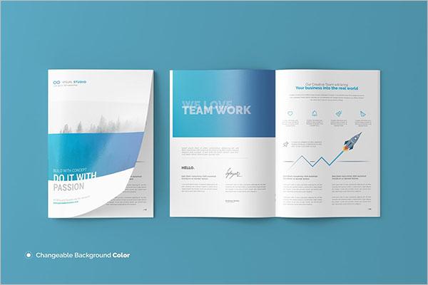 A4 Size Brochure Catalog Template