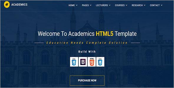 Academic HTML Template