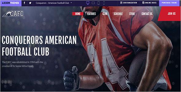 American Football Club WordPress Theme