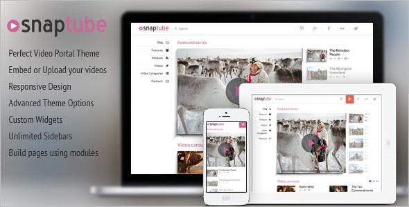 Attractive Video WordPress Theme