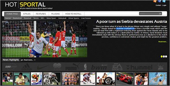 Austrian Football WordPress Theme