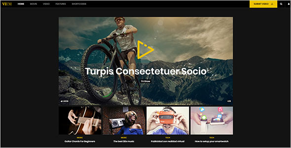 Background Video WordPress Theme