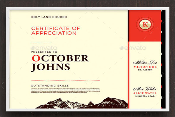 Best Church Certificate Template