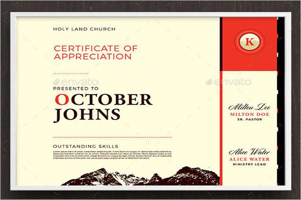 Best Church Certificate Template