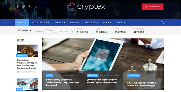 Best Cryptocurrency HTML Templates
