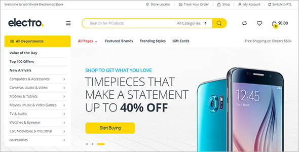 Best Electronics Store Woocommerce Themes