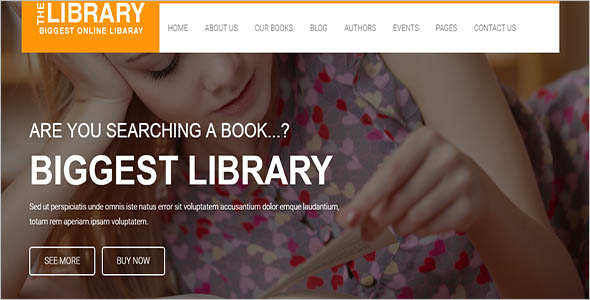Best Library Website Theme